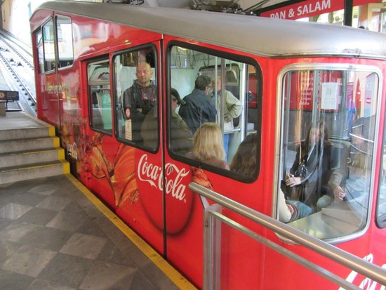 Lugano Dante Center Swiss Quality Hotel: Funicular station beside the hotel