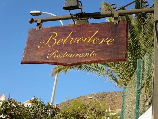 Belvedere Restaurant: Sign