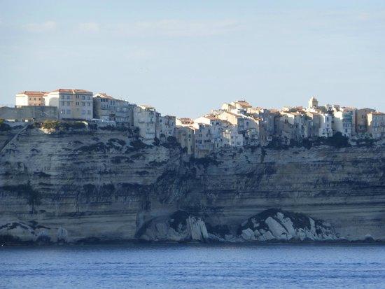 Bonifacio Citadel: Bonifacio vue de la mer