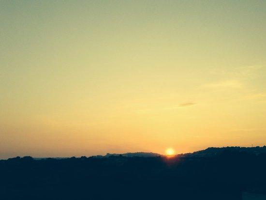 Club Marmara Cala Regina : Coucher de soleil de la terrasse du Dîner