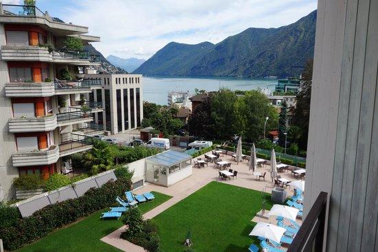 Hotel Delfino: Aussicht Zimmerbalkon