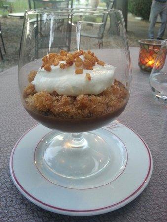 Chateau de Siran : Crème au chocolat granité au café