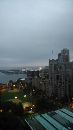The Ritz-Carlton, Chicago: View of navy pier from suite 1510. So beautiful!