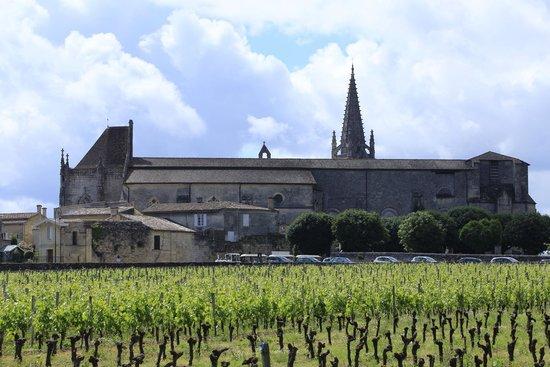 Church across the vineyard