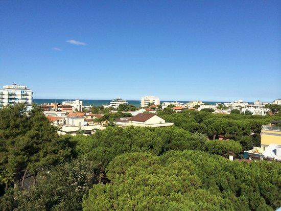 Hotel Augustus Riccione: panorama dalla piscina