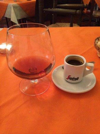Meson de Calahonda: Cafe solo y brandy