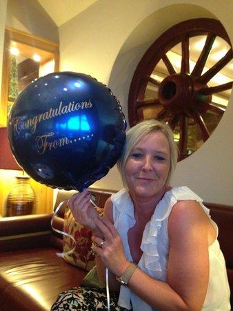 Dovecote Restaurant: Anniversary gift