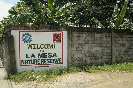 La Mesa Eco Park: Entrance to the reserve