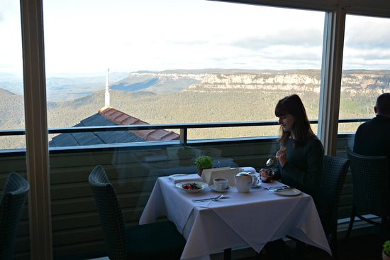 Echoes Boutique Hotel & Restaurant: Breakfast with a view