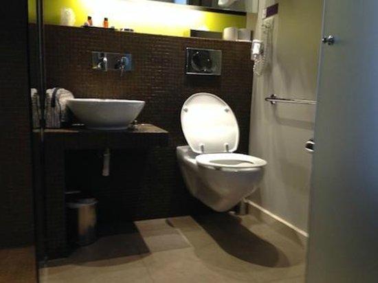 Hotel Elixir: grabrails for toilet