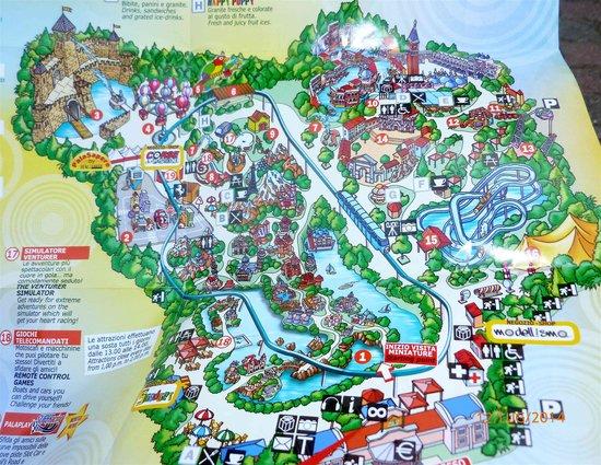 Cartina Dell Italia In Miniatura.La Cartina Del Parco Picture Of Italy In Miniature Rimini Tripadvisor