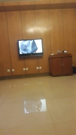 Lagos Oriental Hotel: Watching tv after a hectic day