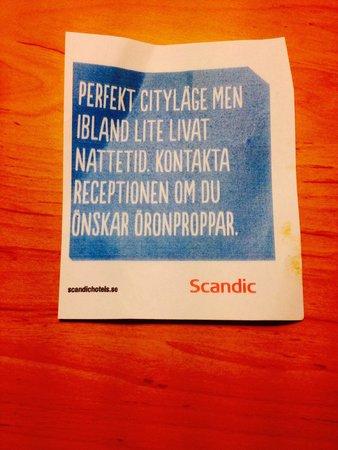 Scandic Hotel Portalen: Bra för er att veta då hotellet ej informerar er i förväg!!