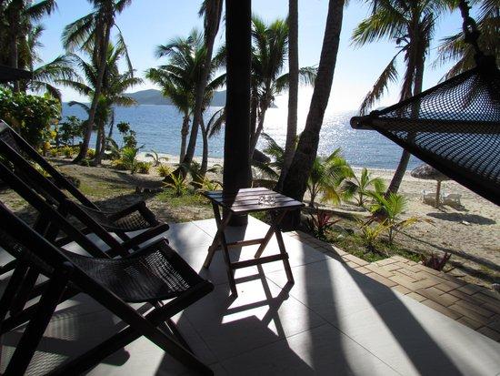 Matamanoa Island Resort : terrassa fronte oceano