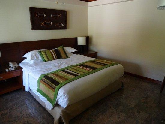 Kurumba Maldives: Bedroom was comfortable and spacious but a bit dark