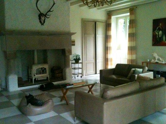 Chateau de la Houillere : Le salon de détente avec TV grand écran
