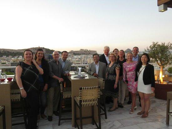 InterContinental Athenaeum: View from Premier Rooftop Bar & restaurant