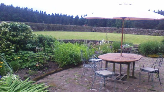 Loadbrook Cottages Bed and Breakfast: The walled garden and woods beyond