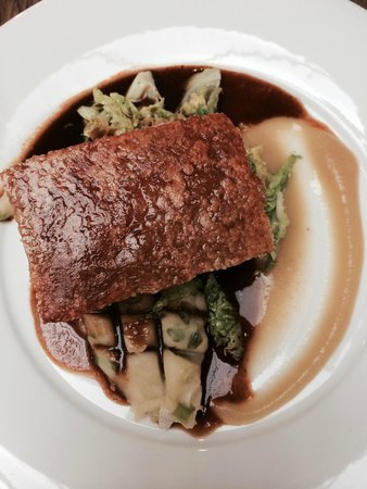 Prince Alfred & Formosa Dining Room: Belly pork with champ mash and savoy cabbage