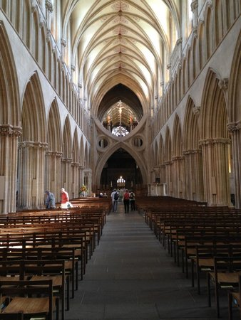 Wells Cathedral: Inside the cathedral.