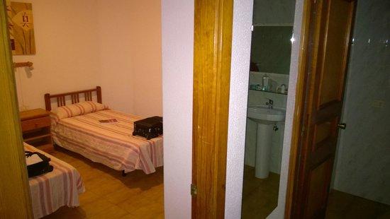 Celeste Apartments: Bedroom/Bathroom