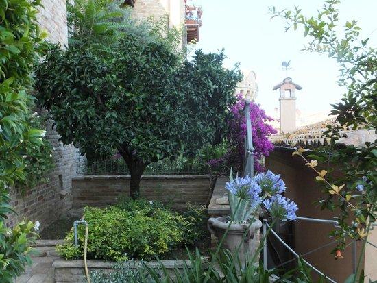 Casa Pazzi: View of private garden for room Melograma
