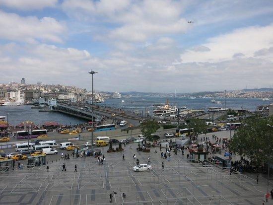 Hamdi Restaurant : Galata Bridge and Bosphorus view from the Terrace