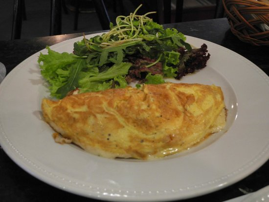 A Blikle: Omlete with crab meat, tasty, but overpriced
