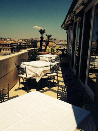 Grand Hotel Ortigia: La magnifica terrazza