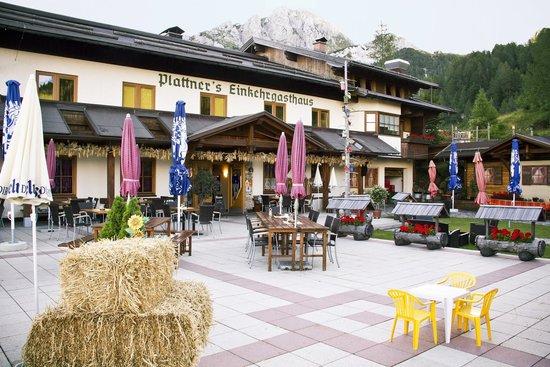 Alpenhotel Plattner: Terrasse