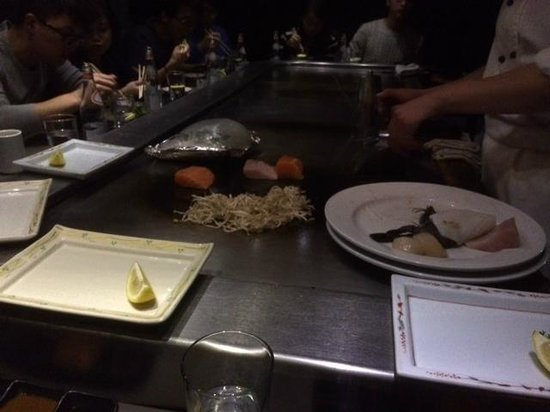 Rocks Teppanyaki: seafood getting cooked in front of you