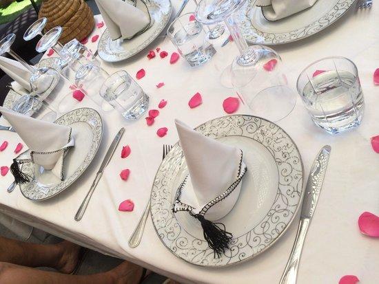 Riad Terra Bahia: La table dressée à notre attention