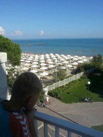 Albergo alla Spiaggia: Beach view from rrom