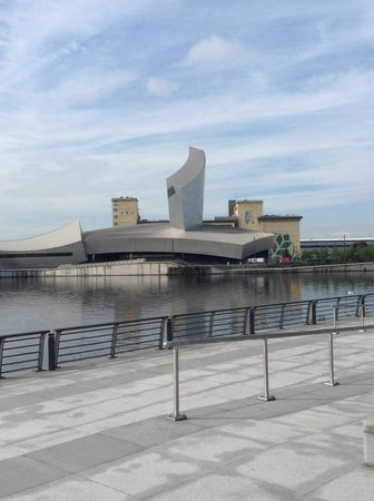 Imperial War Museum North: View of IWMN from MediaCityUk