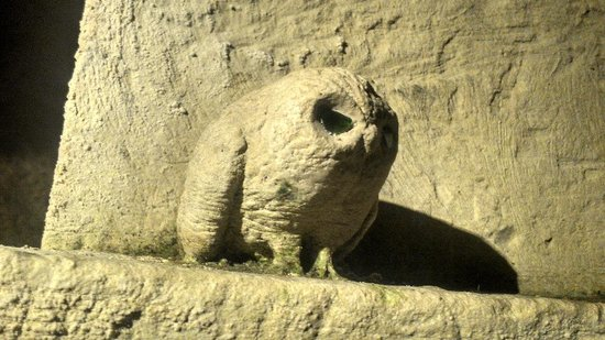 Caves Bouvet-Ladubay : Carved tufa owl in the cellars