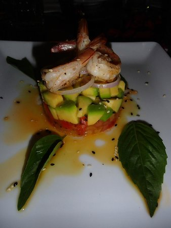 Ginger & Kafe: Prawn & Avocado Stack