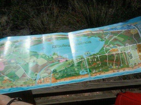 Parque natural s'Albufera de Mallorca: map of nature trails