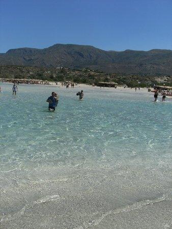 Playa de Elafonisi: traversée vers l'ile