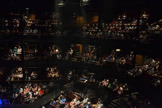 The Royal Shakespeare Theatre: Audience at the John Grant concert at the RSC Stratford.
