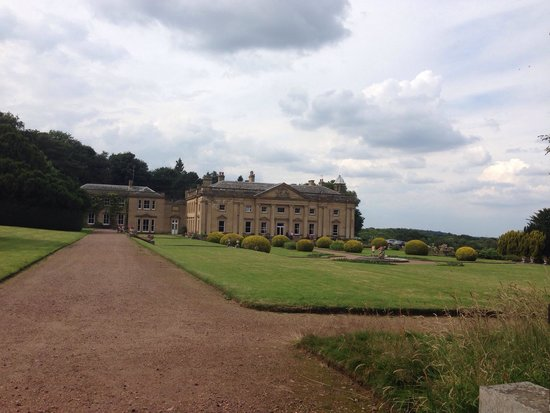 Wortley Hall: Looking back at the Hall from bench at the end of the garden