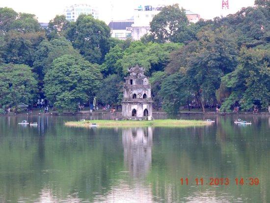Lake of the Restored Sword (Hoan Kiem Lake): The Turtle tower