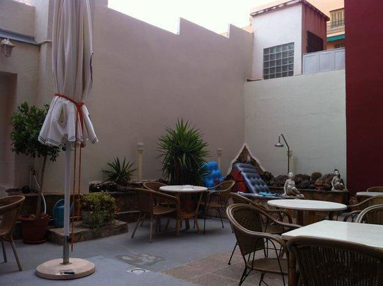 Hotel Xapala: Frühstücksterasse