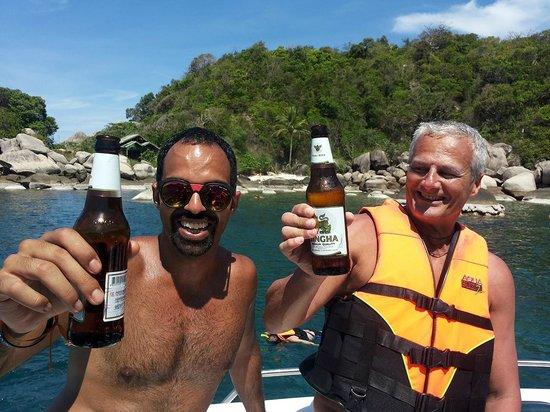 Koh Nang Yuan: a fine immersione una meritata singha beer
