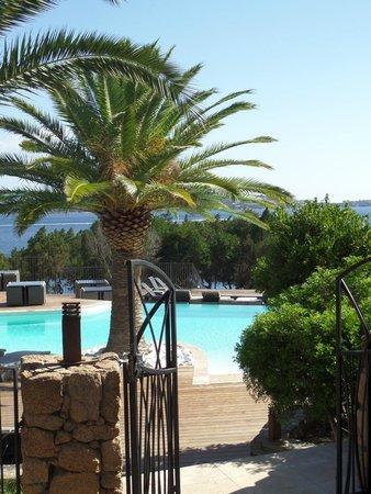 Residence U Paviddonu : entrée piscine