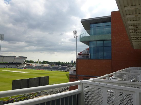 Old Trafford Lodge : View from balcony - Pitch & LCCC