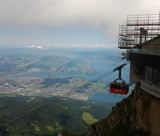 Cable car/gondola station Pilatus Kulm