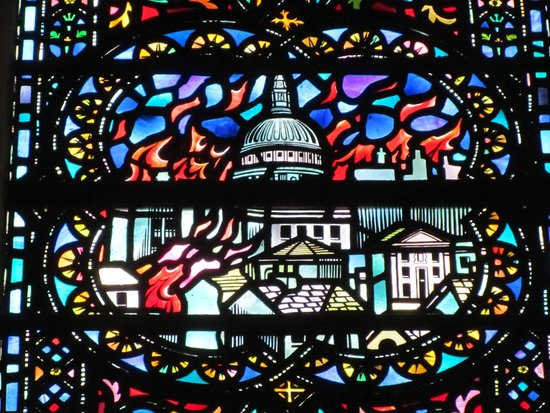 Temple Church: modern stained glass