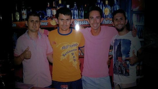 September Restaurant & Bar: James, Ahmet, me and Happy