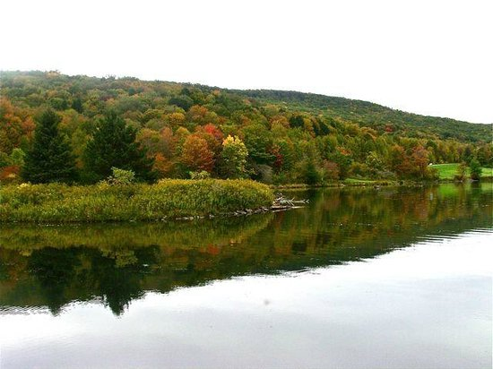 Allegany State Park Campground : Beautiful lake