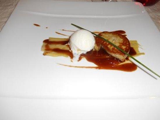 Le Bistrot d'Epicure: Foie gras poêlé, sorbet gingembre